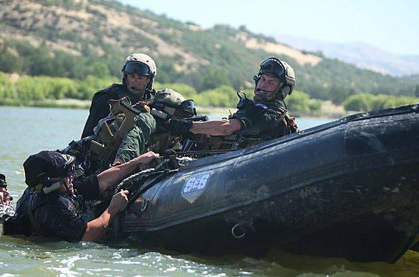 Einsatz mit dem Schlauchboot
