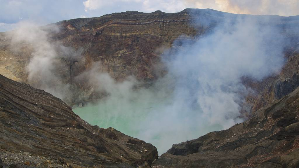 Vulkan in Japan ausgebrochen