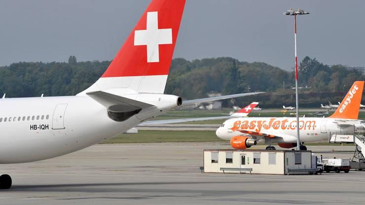 In Genf startet Swiss eine Preisoffensive und tritt damit gegen Marktführer Easyjet an.MARTIAL TREZZINI/Keystone