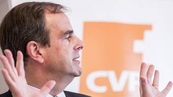 CVP-Parteipräsident Gerhard Pfister ist bemüht, nach aussen kein zerstrittenes Bild abzugeben. Doch die innerparteilichen Differenzen sind gross.