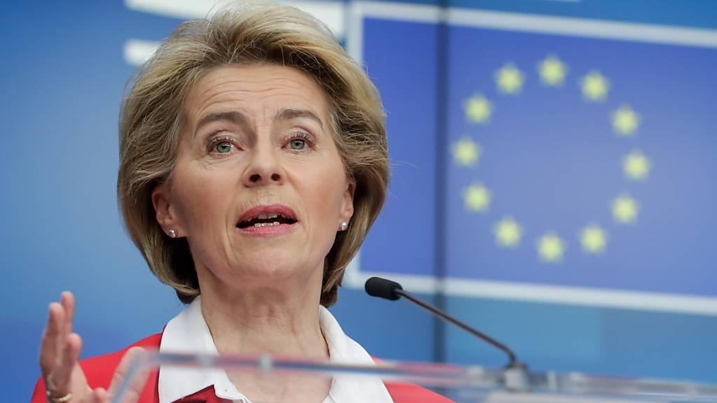 EU-Kommission-Präsidentin Ursula Von Der Leyen. (Archivbild)