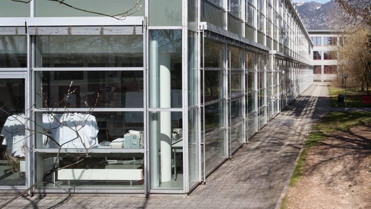 Im Naturwissenschaftstrakt der Kanti Solothurn wurde mit einer Rauchmaschine den Feueralarm ausgelöst. (Archiv)