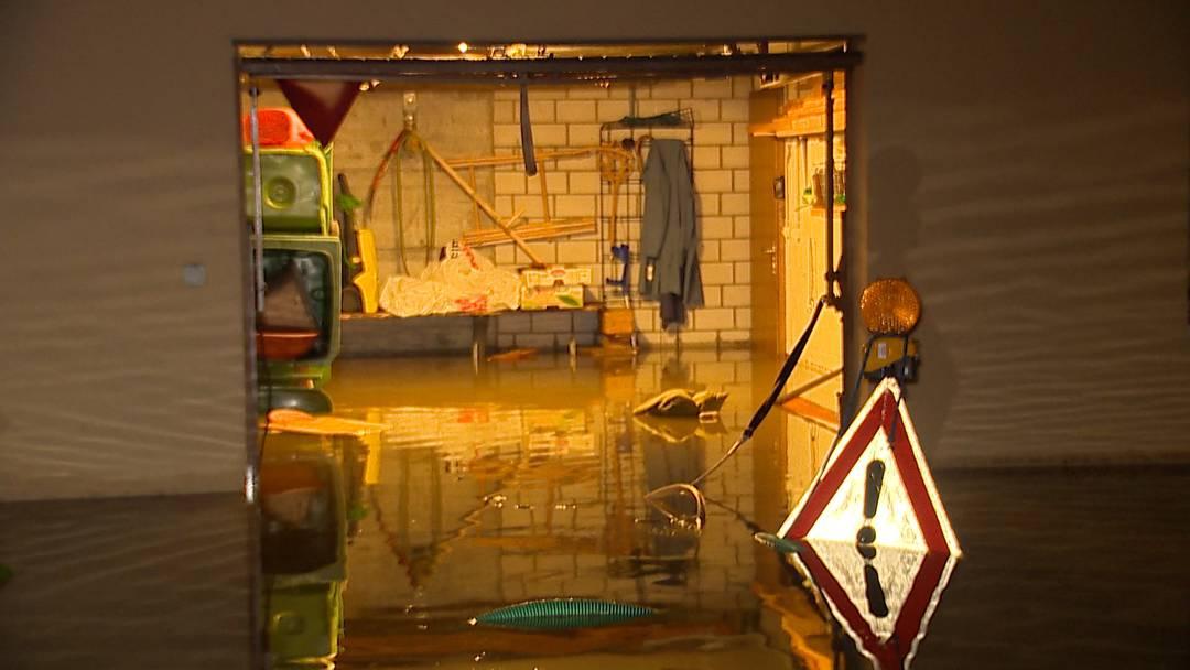 Starker Regen führt zu Überschwemmungen im St. Galler Rheintal