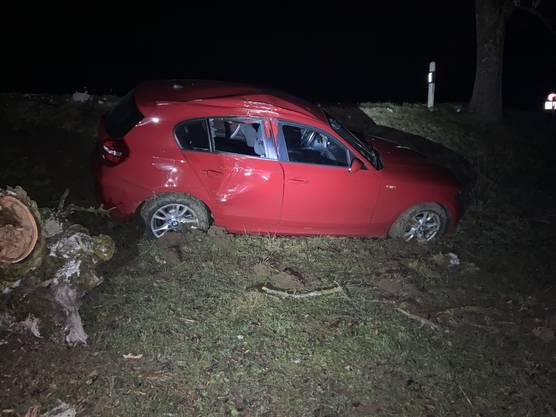 Der 23-Jährige verlor die Herrschaft über sein Fahrzeug.