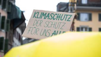 Auch in Solothurn setzt man sich für Klimaschutz ein. Hier ein Foto vom Klimastreik im März 2019.