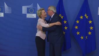 Jean-Claude Juncker nahm sich Ursula von der Leyen so richtig zur Brust.