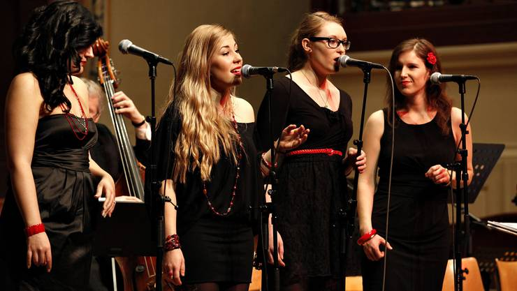 The Ladybirds: Petra Wydler, Angela Petiti, Sarah Jordi und Christine Weber