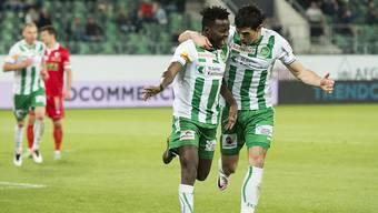 Doppel-Torschütze Edgar Salli und Danijel Aleksic konnten beim Heimsieg gegen Sion endlich wieder einmal jubeln
