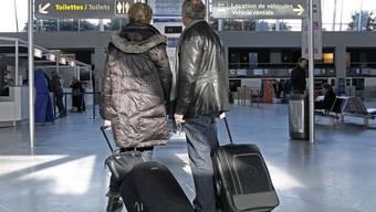 Fluggäste am Flughafen in Montpellier