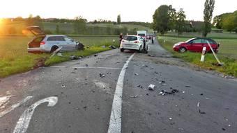 Beim Unfall im Mai 2014 wurden zwei Beteiligte verletzt.