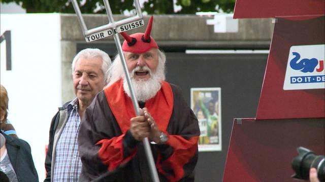 Crazy Fans am Tour de Suisse-Finale in Bern