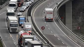 Die Lastwagen wurden von der Polizei Kanton Solothurn gezielt kontrolliert.