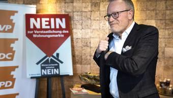 «Es wäre ein Fehler, jetzt übermütig zu werden»: Hans Egloff, Vorkämpfer für die Hauseigentümer.