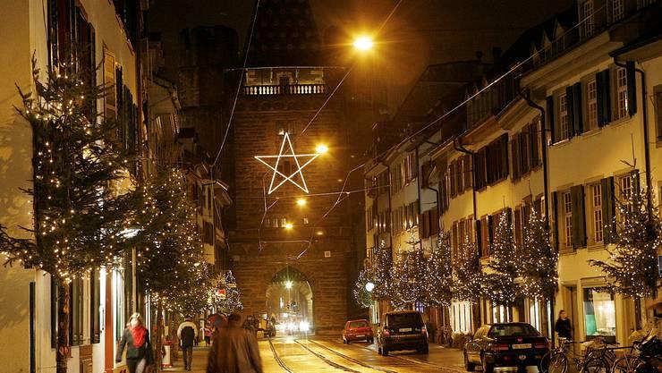 So sollte sie eigentlich aussehen: Die Weihnachtsbeleuchtung in der Spalenvorstadt