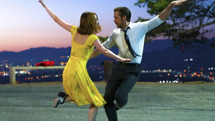 """Alle wollen ihre Liebesgeschichte sehen: Ryan Gosling und Oscar-Gewinnerin Emma Stone """"La La Land"""". (Pressebild)"""