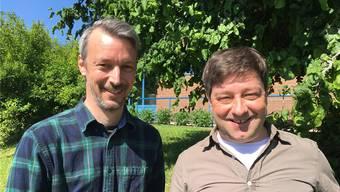 Fabien Daetwyler (l.) ist Präses von der Jungwacht Windisch, Urs Purtschert ist Präses von der JuBla Schenken-bergertal.