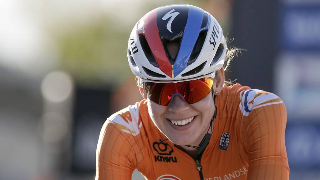 Das Lachen einer Siegerin: Die Niederländerin Anna van der Breggen sicherte sich an der Rad-WM in Imola ihre zweite Goldmedaille