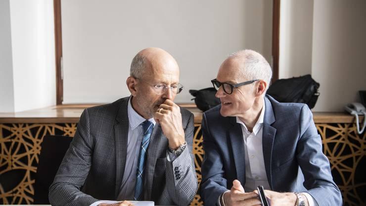 Tomas Poledna (links): «Ich würde nicht von einem Versagen des Stadtrats sprechen.»