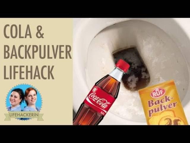 Toilette reinigen mit Cola und Backpulver – WC putzen mit Hausmitteln.