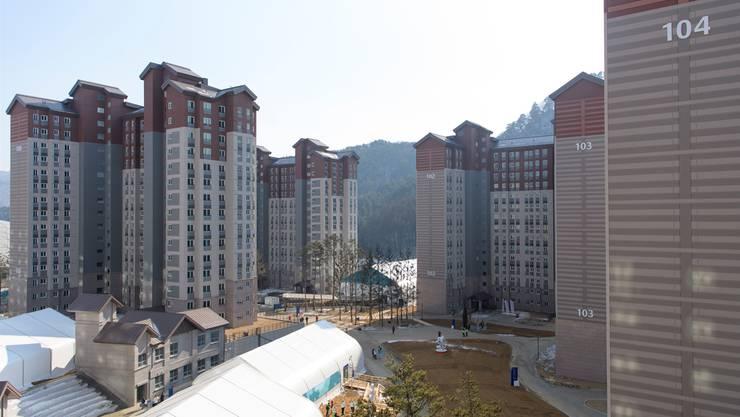Das olympische Dorf in Pyeongchang hatte für die Sportler einiges zu bieten.