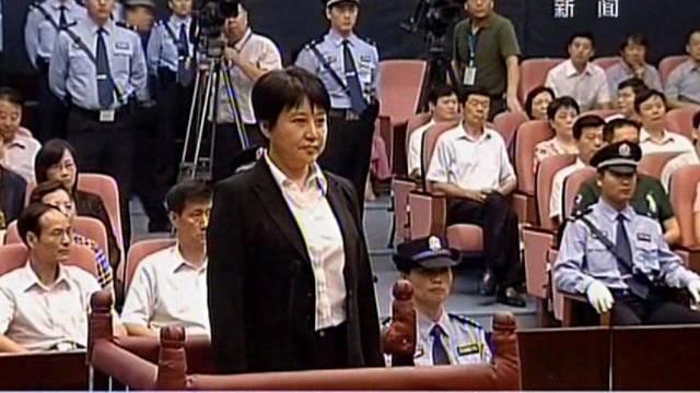 Die Angeklagte Gu Kailai im Gerichtsaal (Archiv)