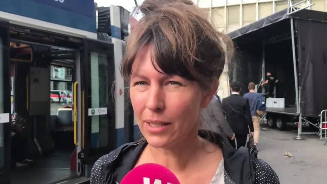 Frida Kohlmann, Sprecherin von Collective Climate Justice: «Die CS ist stark daran beteiligt, dass die Klimakatastrophe befeuert wird.»