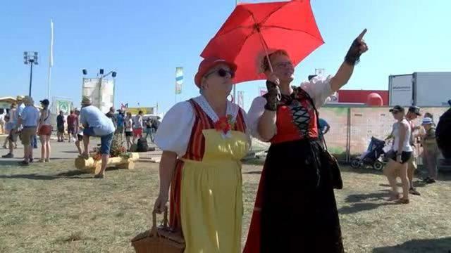Hitzeschlacht am Eidgenössischen Schwingfest