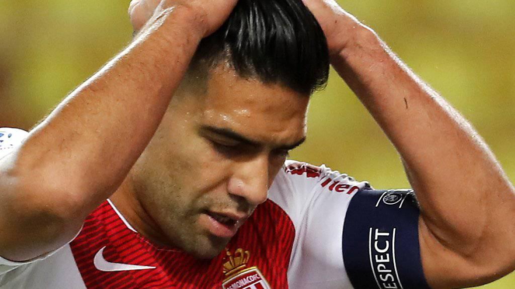 Zum Haareraufen: Monaco und sein Starstürmer Radamel Falcao finden nicht aus dem Tief hinaus
