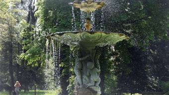 Gespeist wird der Springbrunnen auf dem Areal Königsfelden noch heute von einer Wasserleitung aus der Römerzeit. mhu