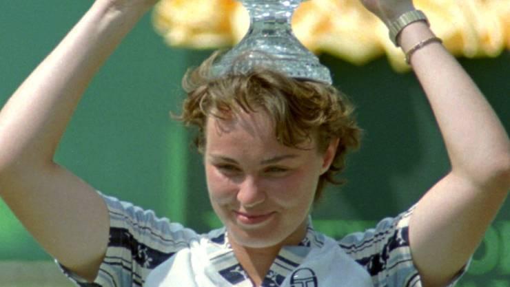 Nach ihrem Turniersieg in Key Biscayne übernahm Martina Hingis Ende März 1997 die Führung in der Weltrangliste