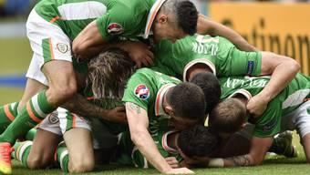 Das 1:1 zwischen Irland und Schweden in Bildern