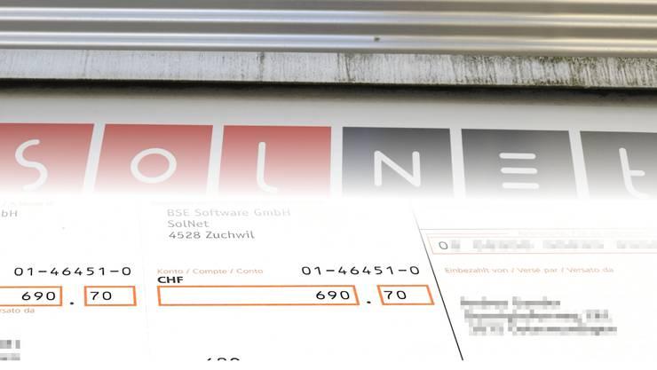 Solnet mahnt nun Kunden, welche die Rechnung gar nie bekamen