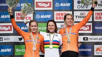 Niederländischer Dreifach-Triumph im WM-Zeitfahren der Frauen