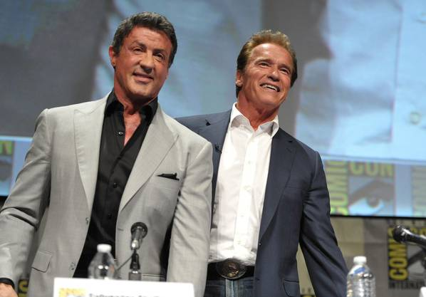Film-Comeback 2012: Gemeinsam mit Schauspiel-Rivale Sylvester Stallone