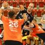 Der HSC Suhr Aarau verlor sein Auftaktspiel gegen St. Otmar St. Gallen mit 26:29.