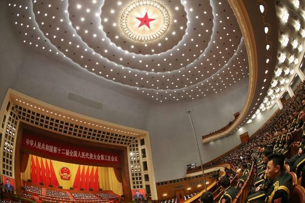 Die grosse Halle des Volkes in Peking.