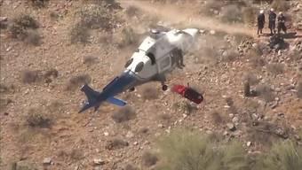 Eine routinemässige Luftrettung im US-Bundesstaat Arizona verläuft turbulenter als gedacht.