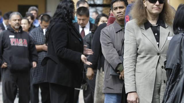 Arbeitslose vor einer Job-Messe in den USA