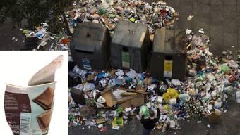 Kunststoff-Abfall wie etwa Joghurtbecherli wird immer häufiger getrennt