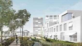 Wohnen und Arbeiten: So könnte es auf dem Areal Widen in Dornach in einigen Jahren aussehen.