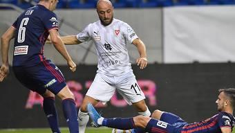 Tunahan Cicek und Vaduz mussten sich nach dem Erfolgserlebnis in der Europa League in der Meisterschaft mit einem Remis begnügen
