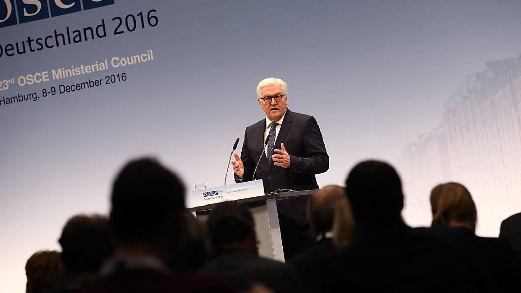 Steinmeier betont Bedeutung der OSZE als Brückenbauerin