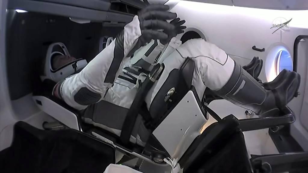 SpaceX-Astronauten auf dem Weg zurück zur Erde