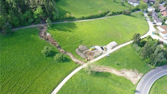 Die Renaturierung des Munibachs in Ennetbaden soll die Landschaft aufwerten.