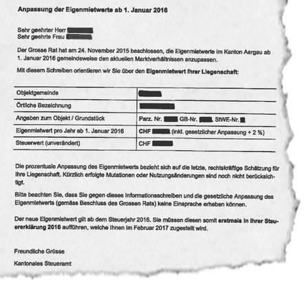 166 000 Briefe gingen in diesen Tagen an die Eigentümer im Aargau.