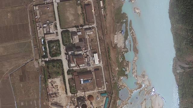 Die Atomanlage Yongbyon aus der Satellitenperspektive