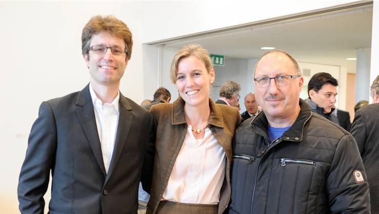 Die Laufentaler Deponie-Gegner Remo Stebler, Karin Joachim und Peter Hueber gestern Nachmittag in Liestal.Martin Töngi