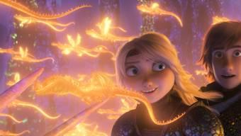 """Die Drachenromanze """"How To Train Your Dragon 3: The Hidden World"""" hat am Wochenende vom 14. bis 17. Februar 2019 am meisten Besucher in die Schweizer Kinos gelockt."""