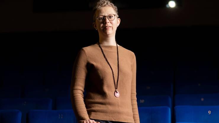 Kinounternehmerin Alexandra Sterk im Kino Trafo in Baden.