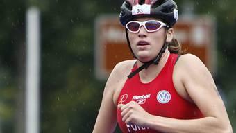 Berglauf-Europameisterin: Monika Fürholz, hier als Triathletin